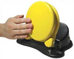 Adjustable angled yellow switch.